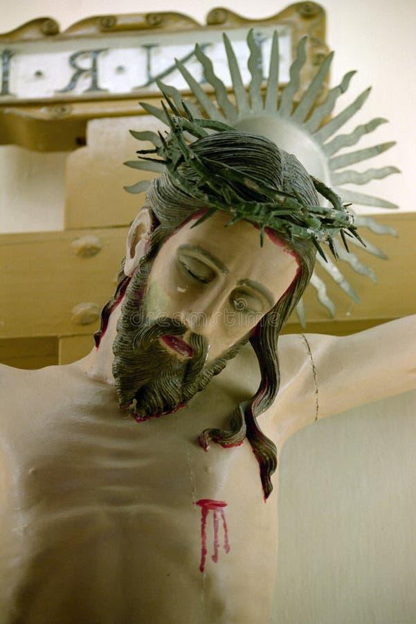 Jesucristo crucificado fotos de archivo