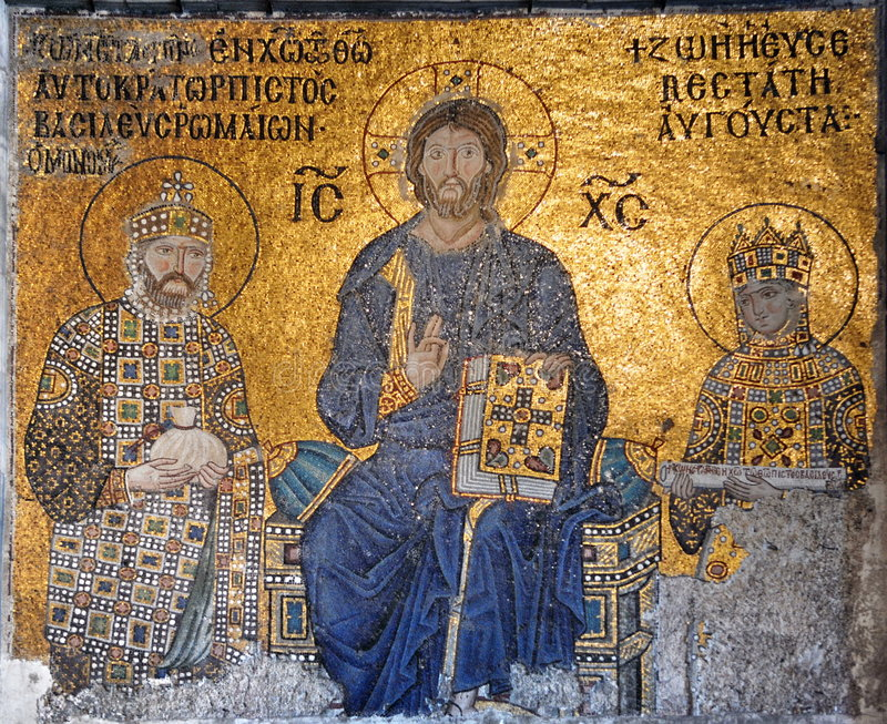 Jesucristo en Hagia Sophia foto de archivo libre de regalías