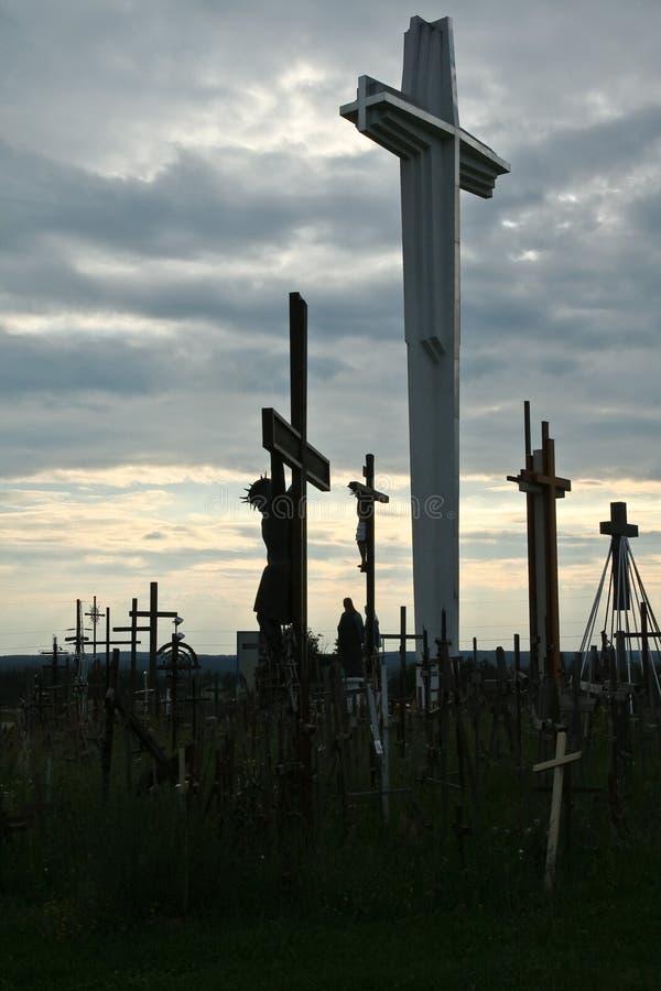 Jesucristo en la cruz imagenes de archivo