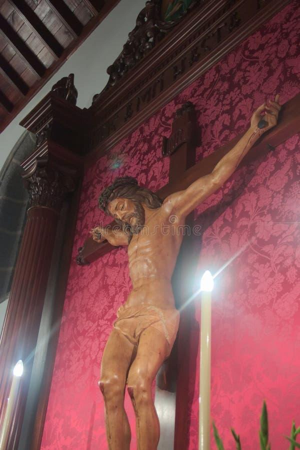 Jesucristo en la cruz imagen de archivo libre de regalías
