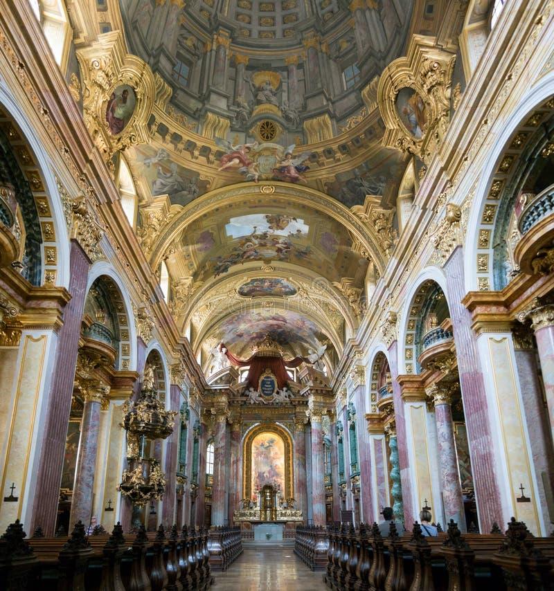 Jesuit ή πανεπιστημιακό εσωτερικό εκκλησιών στη Βιέννη, Αυστρία στοκ φωτογραφία με δικαίωμα ελεύθερης χρήσης