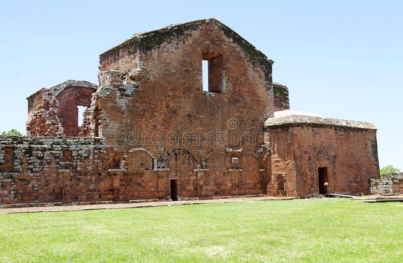 Jesuit-Aufträge von La Santisima Trinidad de ParanÃ, Paraguay stockbild