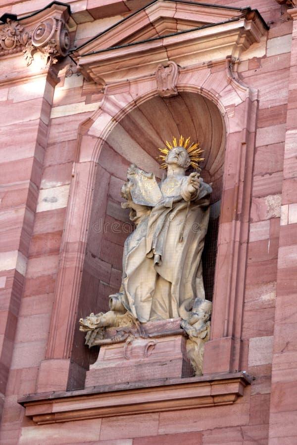 Jesuit-Kirche in Heidelberg, Deutschland stockbilder