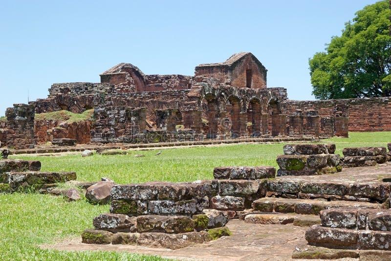 Jesuit Missions of La Santisima Trinidad de Paranà,Paraguay. The Jesuit Missions of La Santisima Trinidad de Paranà is located in the Itapua Departement in royalty free stock image