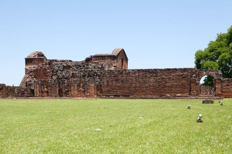 Jesuit Missions of La Santisima Trinidad de Paranà,Paraguay. The Jesuit Missions of La Santisima Trinidad de Paranà is located in the Itapua Departement in royalty free stock photo