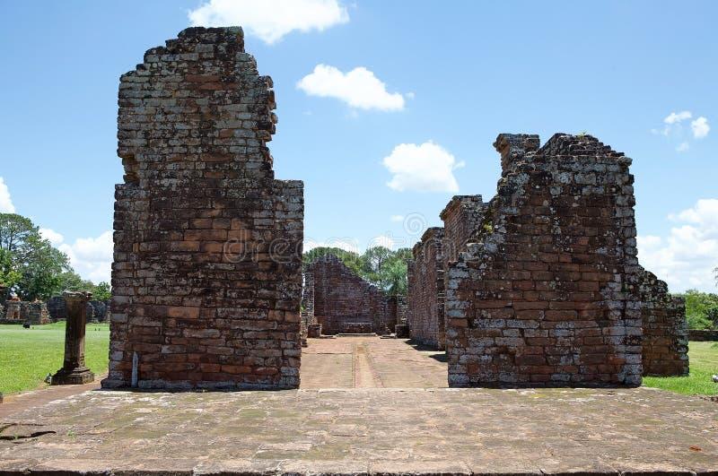 Jesuit Missions of La Santisima Trinidad de Paranà,Paraguay. Church at the Jesuit Missions of La Santisima Trinidad de Paranà is located in the Itapua stock photography
