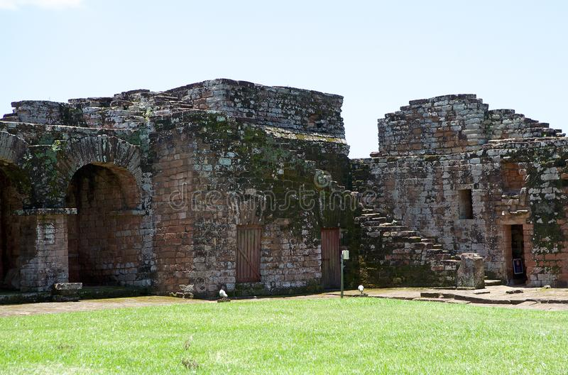 Jesuit Missions of La Santisima Trinidad de Paranà,Paraguay. The Jesuit Missions of La Santisima Trinidad de Paranà is located in the Itapua Departement in royalty free stock photography