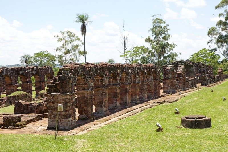 Jesuit Missions of La Santisima Trinidad de Paranà,Paraguay. The Jesuit Missions of La Santisima Trinidad de Paranà is located in the Itapua Departement in stock photos