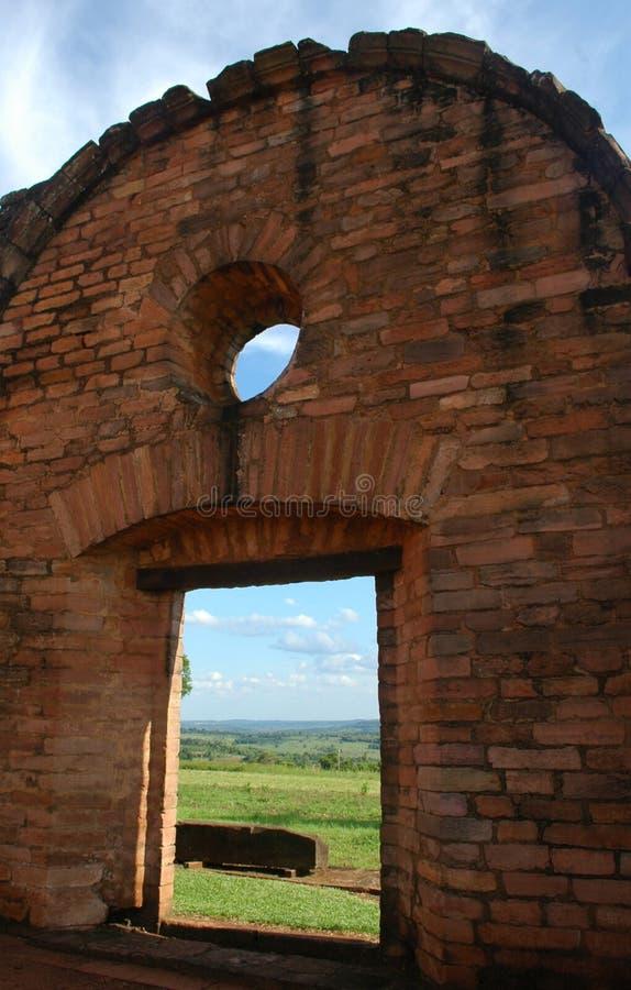 Jesuit Trinidad Mission, Paraguay fotografering för bildbyråer