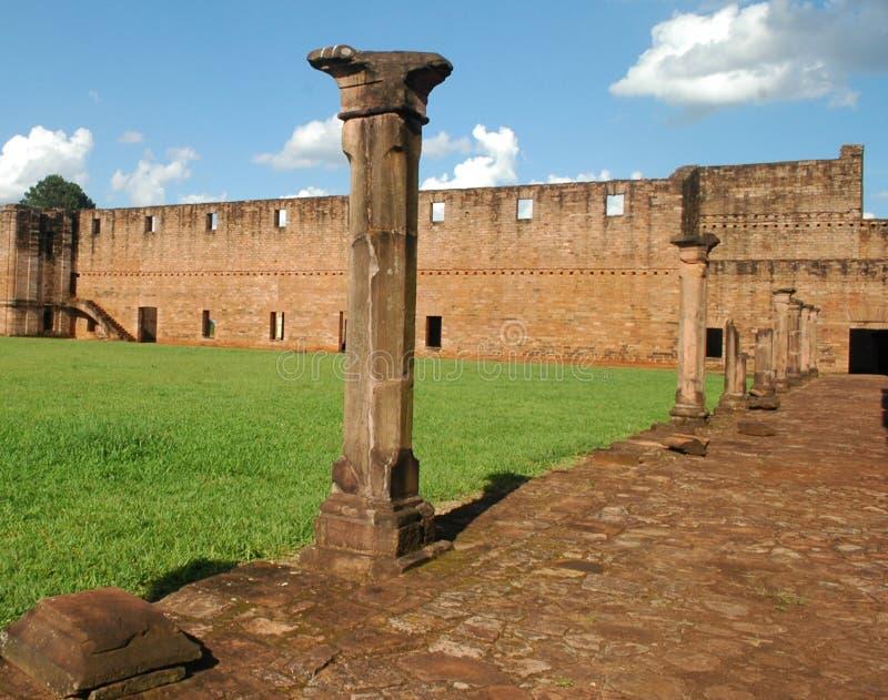 Jesuit Trinidad Mission, Paraguay royaltyfria foton