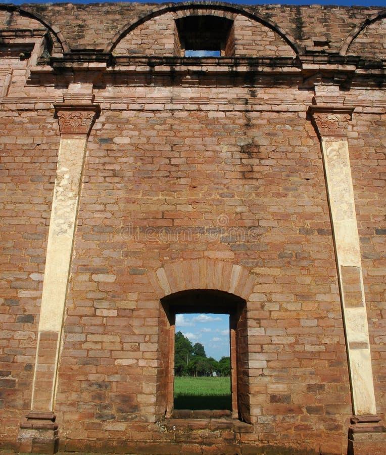 Jesuitbeskickning av Trinidad, Paraguay royaltyfri fotografi