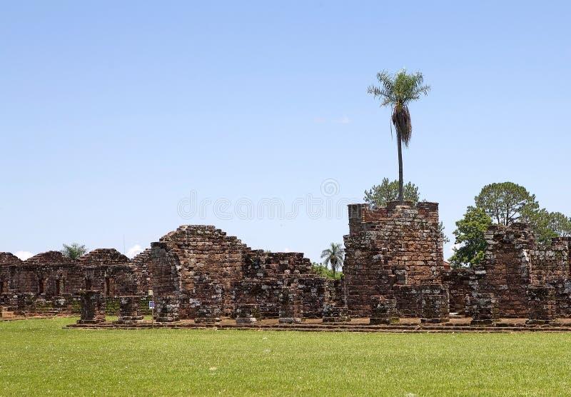 Jesuitbeskickningar av La Santisima Trinidad de ParanÃ, Paraguay royaltyfri foto