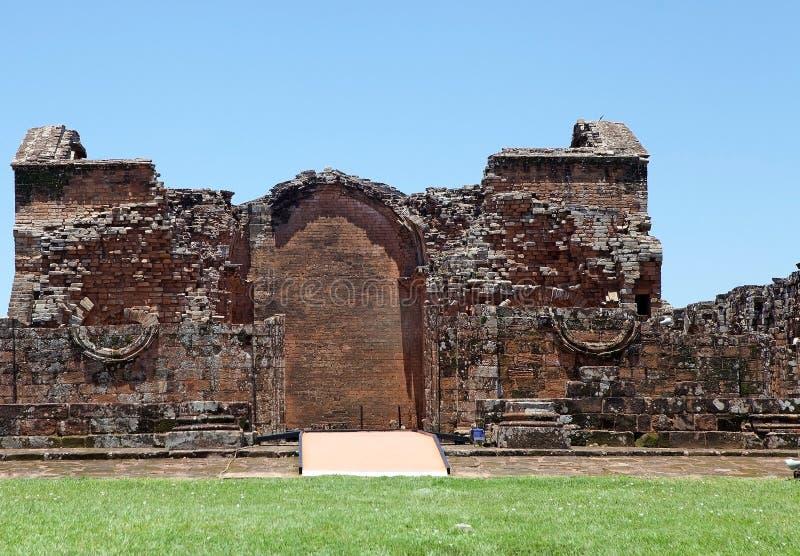 Jesuitbeskickningar av La Santisima Trinidad de ParanÃ, Paraguay royaltyfri fotografi