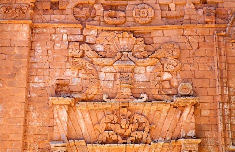Jesuitbeskickningar av La Santisima Trinidad de ParanÃ, Paraguay arkivfoton