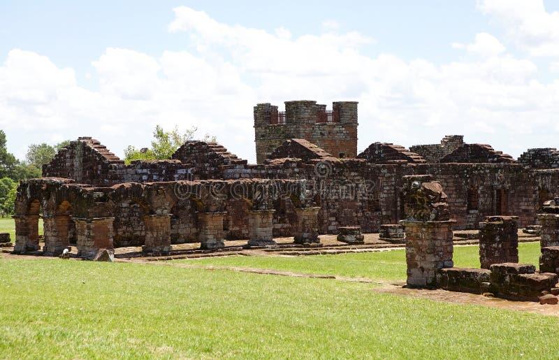 Jesuitbeskickningar av La Santisima Trinidad de Paran?, Paraguay arkivfoto