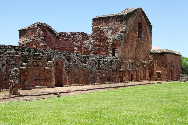 Jesuitbeskickningar av La Santisima Trinidad de Paran?, Paraguay arkivbild