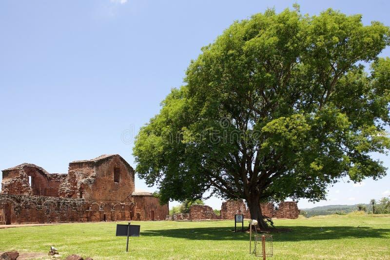Jesuitbeskickningar av La Santisima Trinidad de Paran?, Paraguay royaltyfria foton