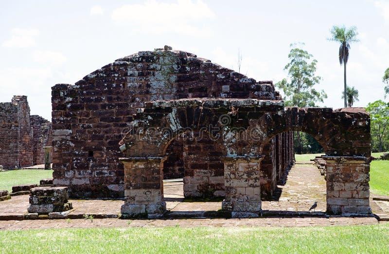 Jesuitbeskickningar av La Santisima Trinidad de Paran?, Paraguay arkivfoton