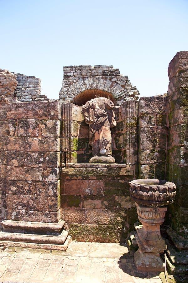 Jesuitbeskickningar av La Santisima Trinidad de Paran?, Paraguay royaltyfri foto