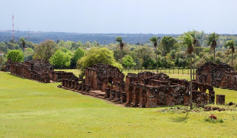 Jesuitbeskickningen fördärvar i Trinidad Paraguay royaltyfri bild