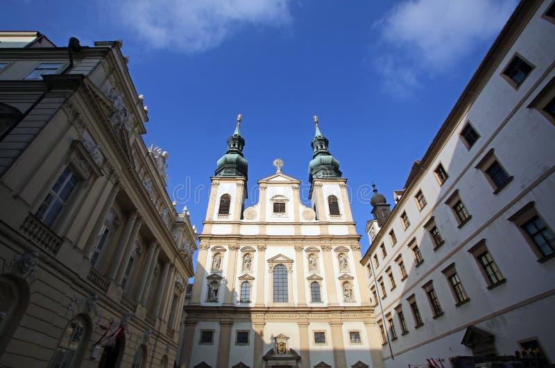 Jesuitkirche in Wien stockfoto