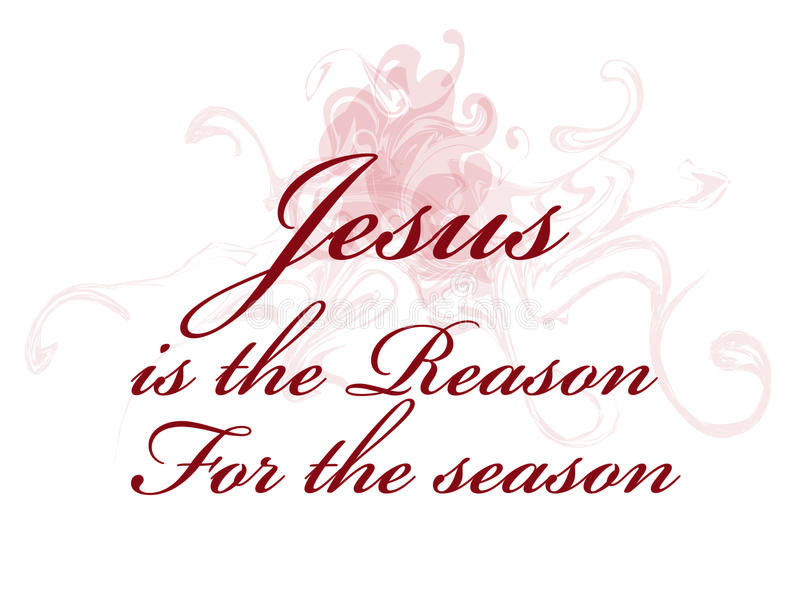 Jesus är anledningen för säsongen stock illustrationer