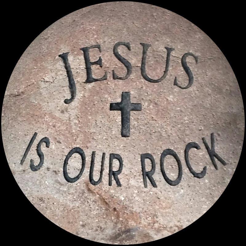 Jesus é nossa rocha fotos de stock
