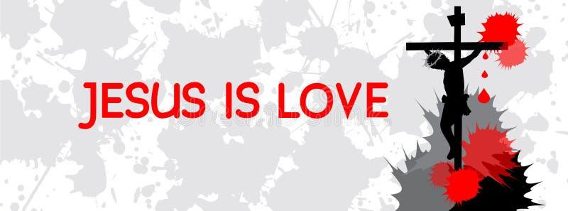 Jesus é tampa do espaço temporal do amor ilustração royalty free
