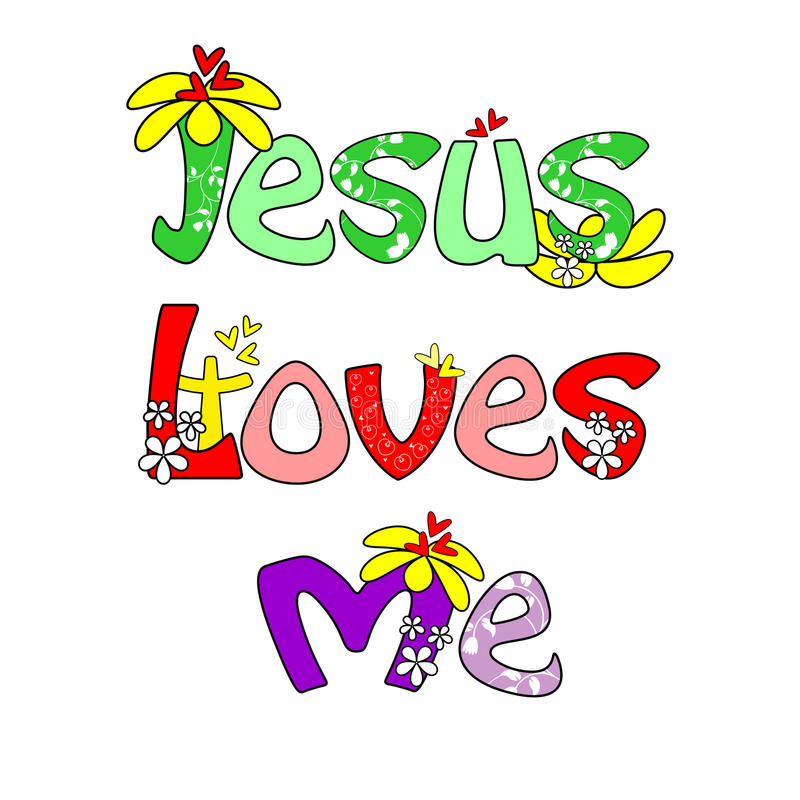 Jesus ama-me ilustração stock