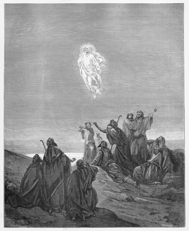 Jesus Ascends zum Himmel stock abbildung