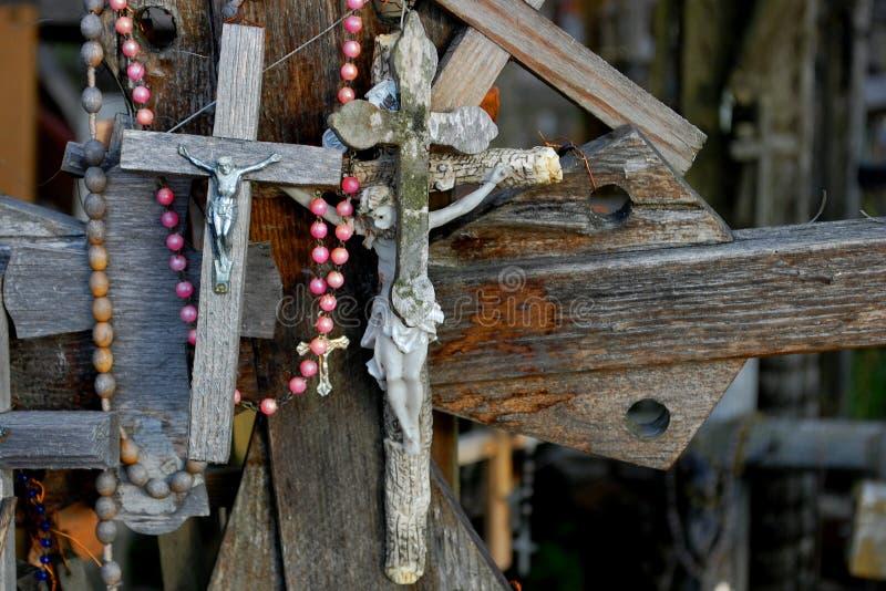 Jesus auf dem Kreuz stockfotos