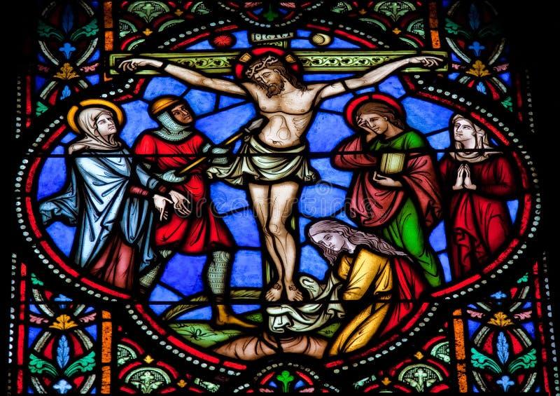 Jesus auf dem Kreuz stockbilder