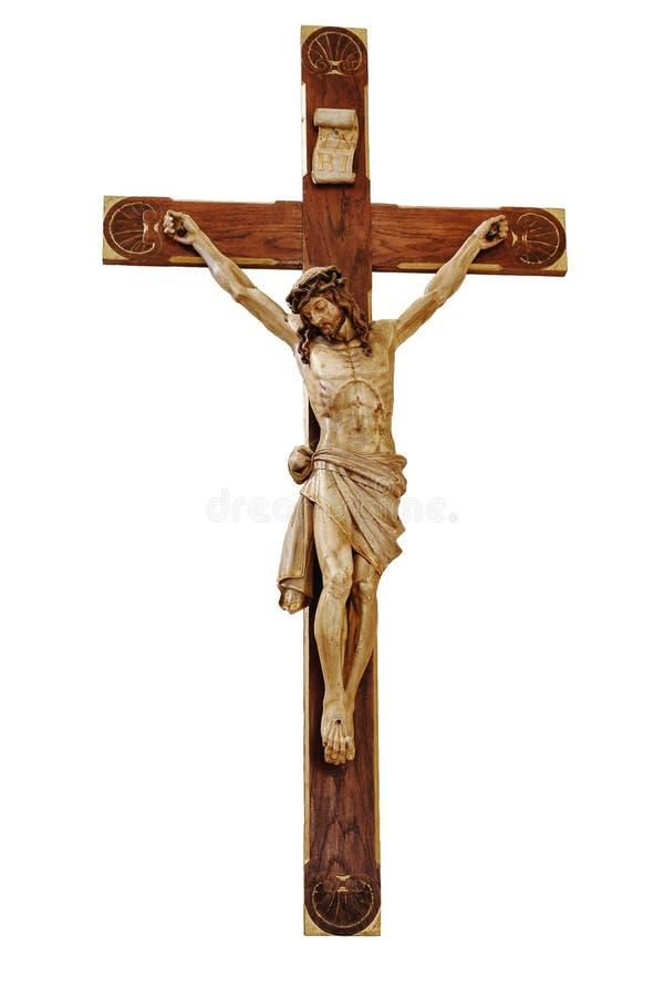 Jesus auf dem Kreuz lizenzfreie stockbilder