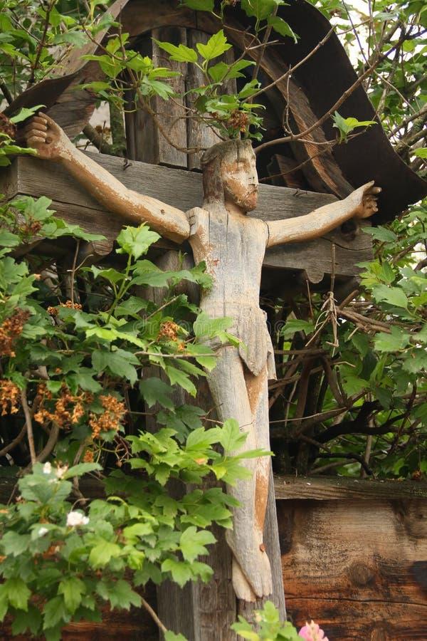 Jesus auf dem Kreuz lizenzfreies stockfoto