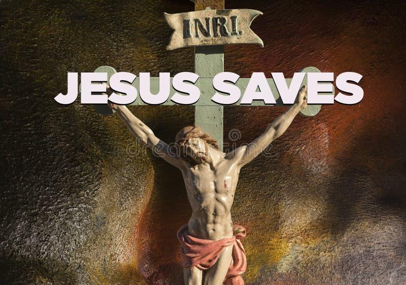 Jesus auf der quer- Rettung vektor abbildung