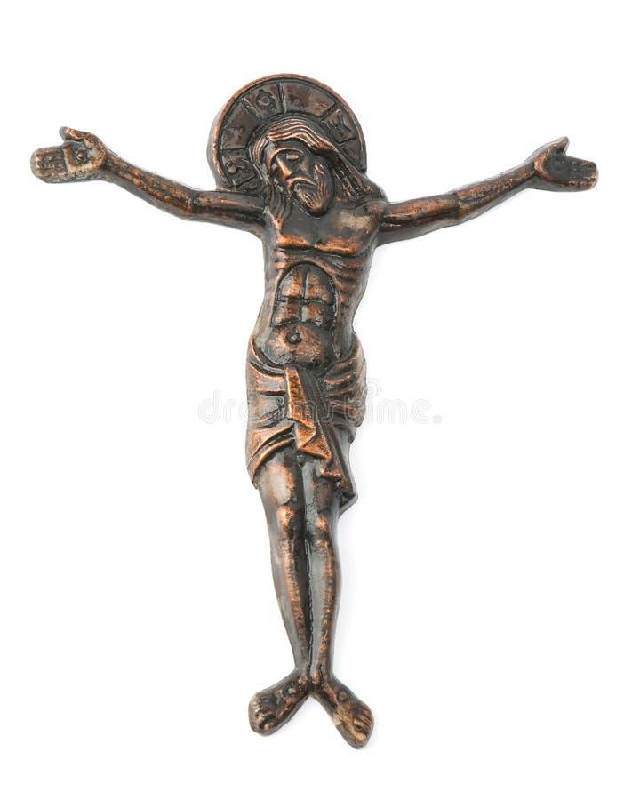 Jesus auf Kreuz stockfoto