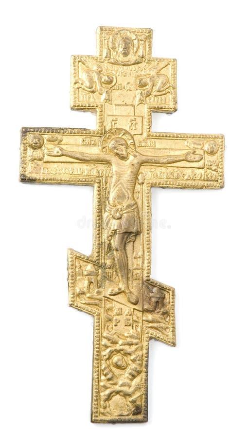 Jesus auf Kreuz stockfotos