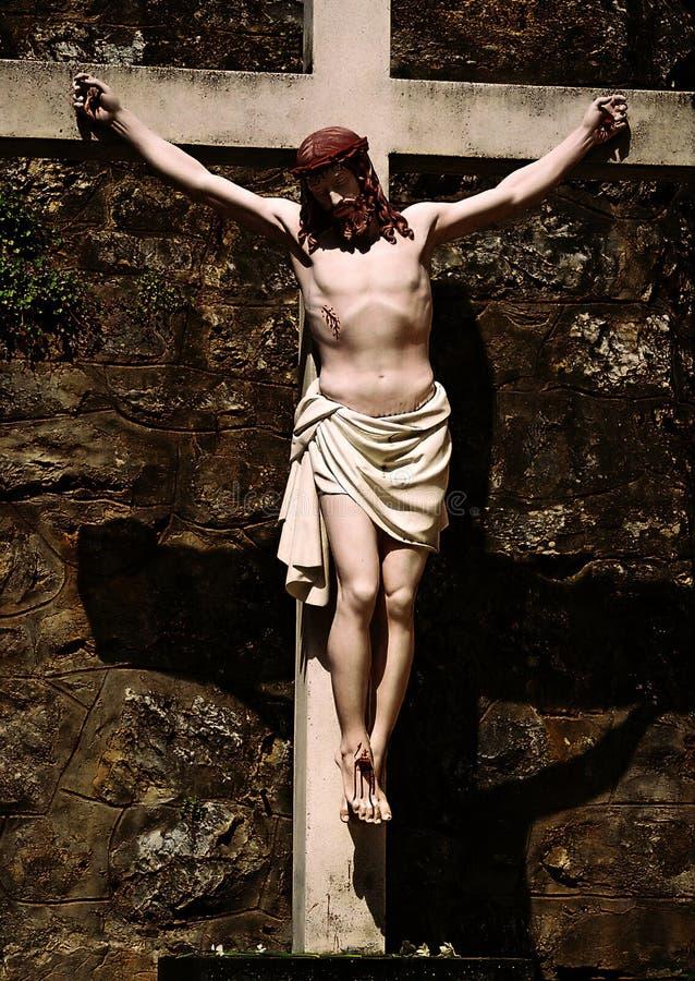 Download Jesus auf Kreuz stockfoto. Bild von kirche, gesicht, psalm - 34344