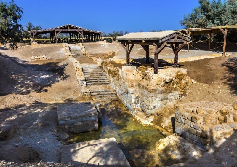 Jesus Baptism Site John Baptist Bethany Beyond Jordan lizenzfreies stockbild