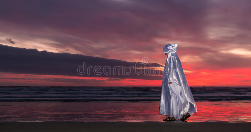 Download Jesus Beach Sunset stock illustration. Illustration of waves - 57304131