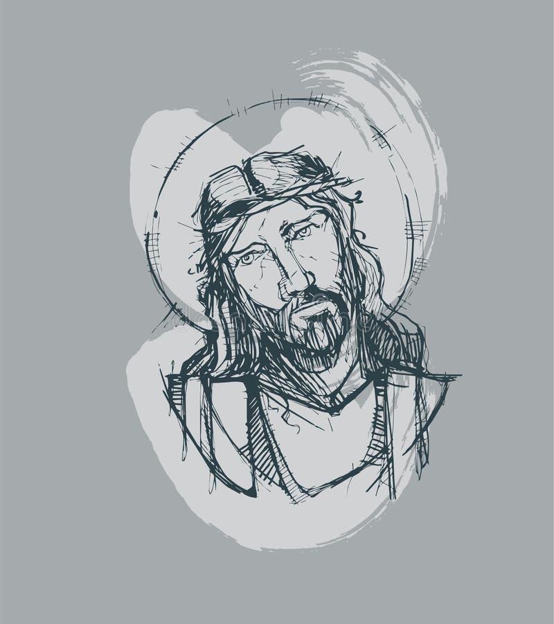 Jesus bij Zijn Hartstocht D vector illustratie