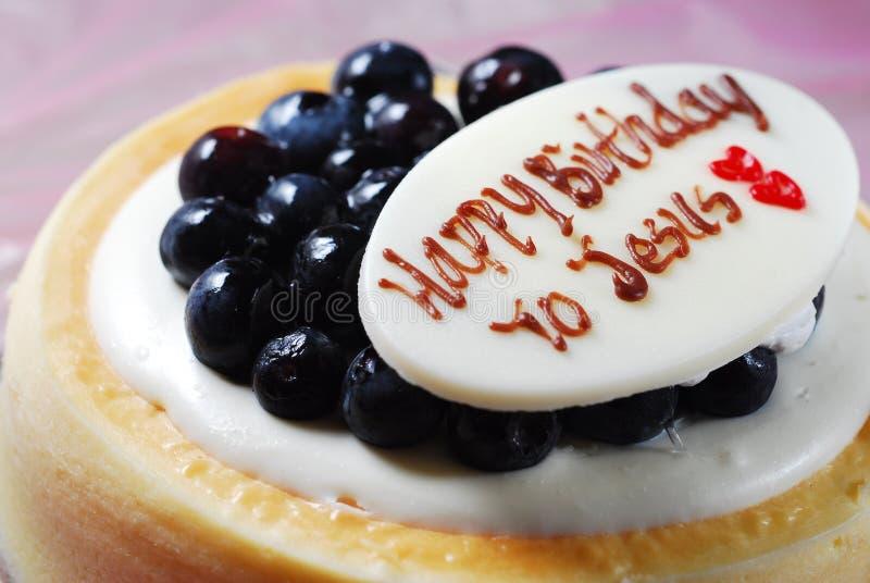 Jesus Birthday cake. Xmas Jesus Birthday cheese cake royalty free stock photography
