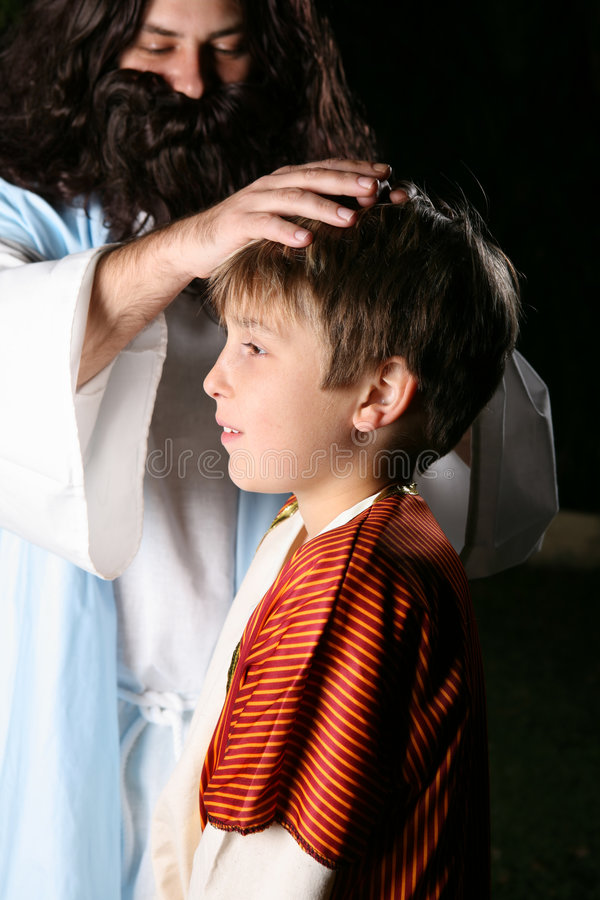 Download Jesus Blessing The Children Stock Image - Image: 3090409