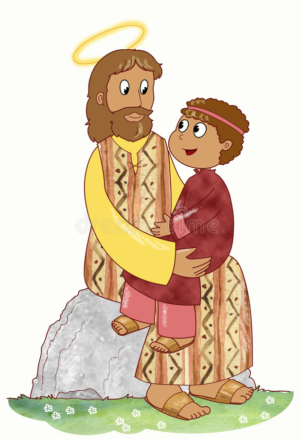 Jesus and child royalty free illustration
