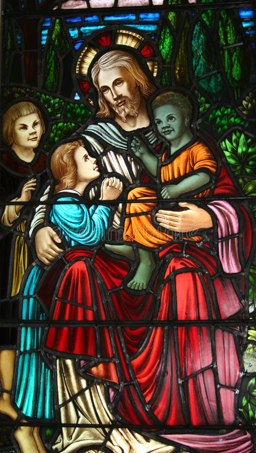 Jesus & the Children royalty free stock images