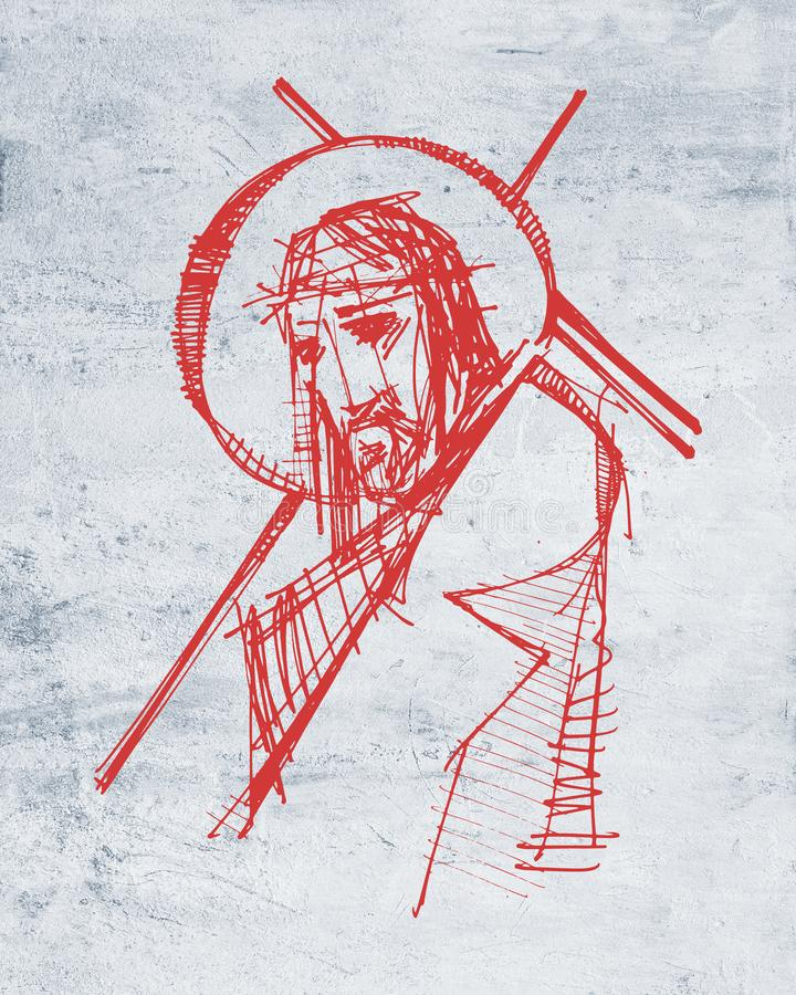 Jesus Christ A Son Illustration De Passion Illustration Stock