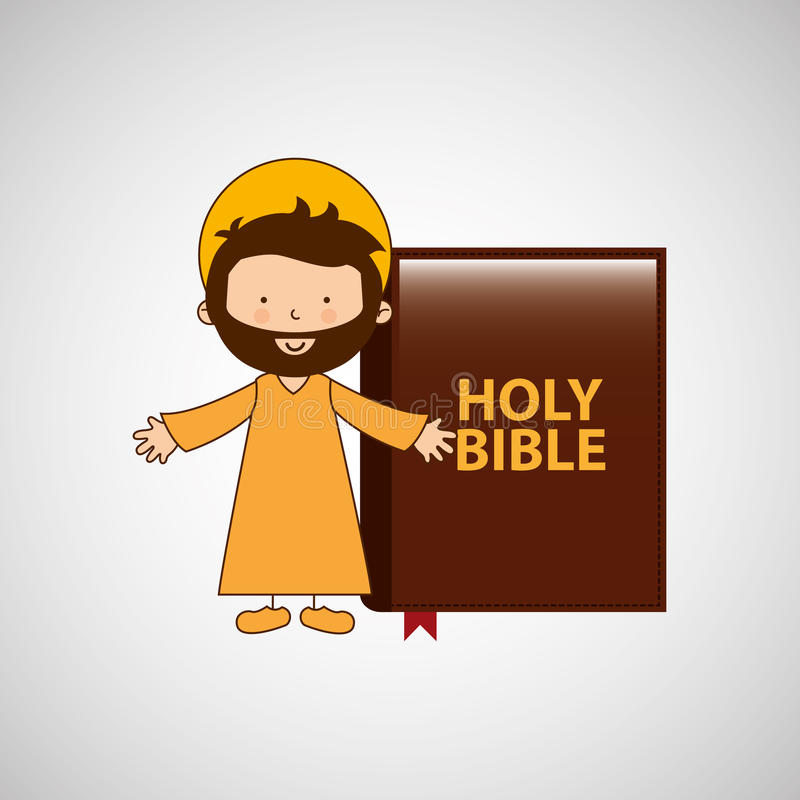 jesus christ öppna armar med bibeldesign vektor illustrationer