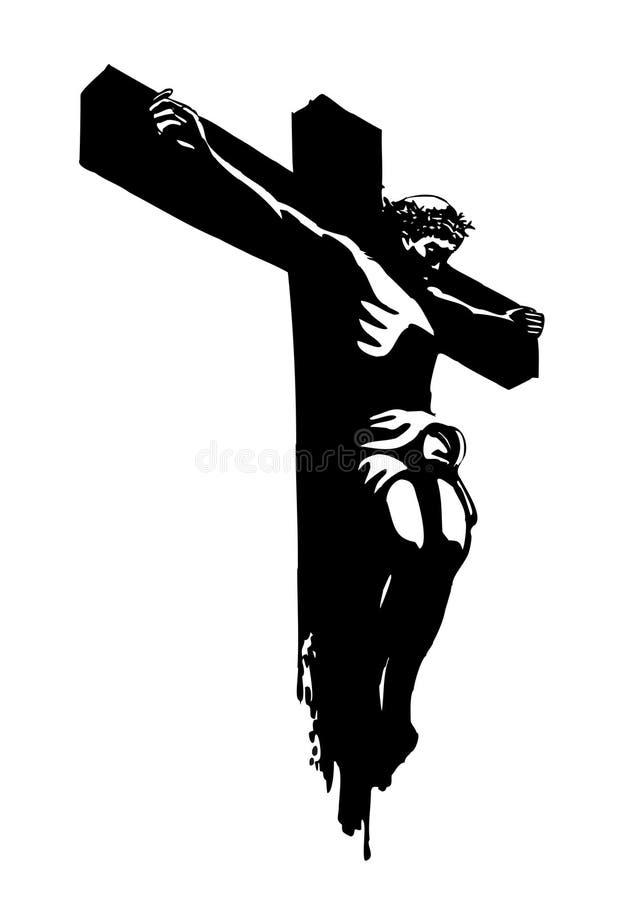 Download Jesus christ stock vector. Image of drawing, pencil, black - 10135384