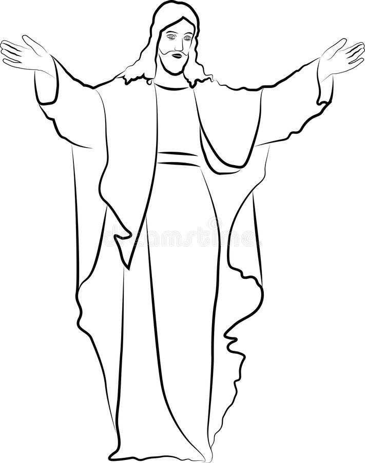 Download Jesus Christ stock vector. Illustration of blessings - 27905086