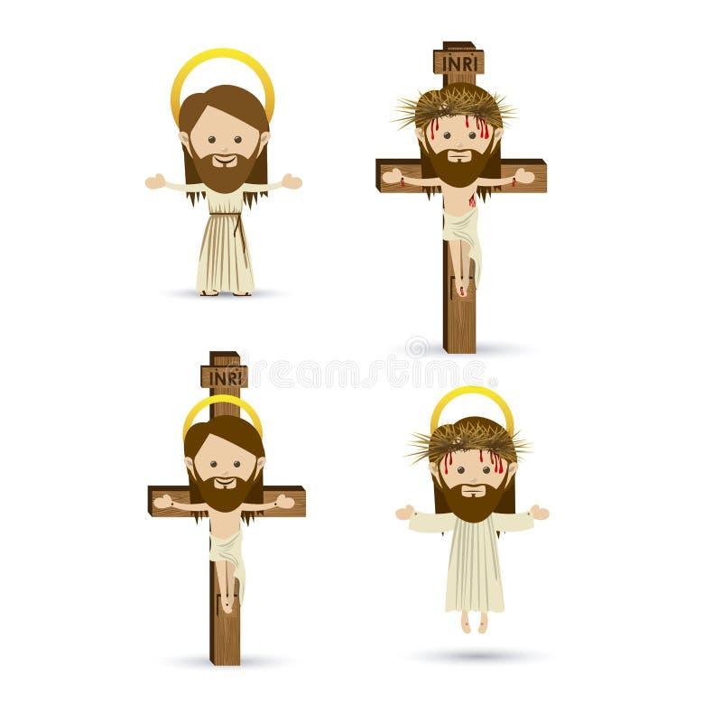 Jesus Christ royaltyfri illustrationer